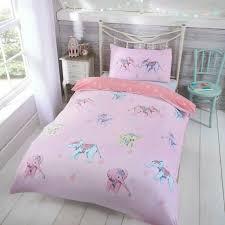 rapport kids children s ellie elephant reversible duvet cover bedding set pink