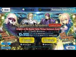5 rolls 5 yolos knights of the round table banner fate grand order