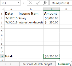 Family Budget For A Month Table Of Expenses And Incomes Of The Family Budget In Excel