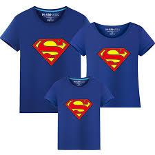 1 pcs Hot <b>Superman</b> Family Matching T shirts Quality Cotton ...