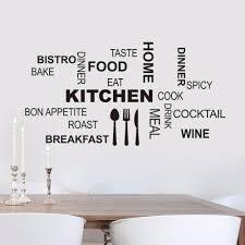 kitchen wall es art food wall stickers diy vinyl adesivo de paredes home decals art posters