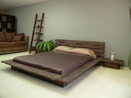 Bedroom Designs Rustic Ideas Wooden Low Profile Bed Frame