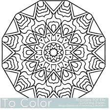 Snowflake Mandala Coloring Pages Free Jokingartcom Snowflake