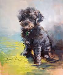 custom pet portraits in oil a dog named bailey