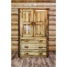 Rustic Armoire Armoires & Wardrobes Bedroom Furniture The