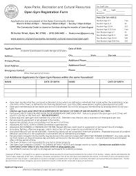 Free Gym Membership Registration Form Templates At