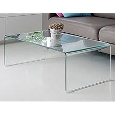 glass coffee table. Fab Glass And Mirror Bent Coffee Table, 3/8\ Table F