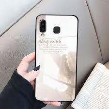 Ốp kính cường lực dành cho điện thoại Samsung Galaxy A7 2018/A750 - A8 STAR  - A9 STAR - A50 - ngôn tình tâm trạng -...