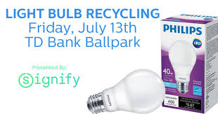 bridgewater nj the somerset patriots have teamed up with signify home to the philips lighting brand to host a light bulb recycling and free led light