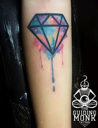 Cosmic Watercolor Diamond Tattoo Tattooideasfemale Tattoo Ideas