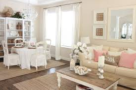 Romantic Living Room Decorating Wood Storage Drawers Cabinet Set White Wall Paint Color Romantic