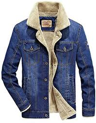PYLOVER Mens <b>Winter</b> Coat Denim Jacket <b>Cotton</b> Men's <b>Casual</b> ...