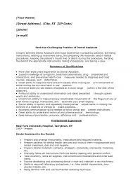 Dental Assistant Resume Sample Job Vacancy As Objective For With No