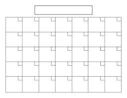 8 1 2 X 11 Blank Calendar Template Free Calendars To Print Pdf