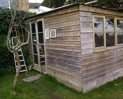 building a garden office. A Garden Office Built With Ship Lap Timber. Building A