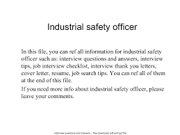 industrial safety officer documents tips sharing is our passion cover letter industrial safety officer documents tips sharing is our passion industrialindustrial safety officer