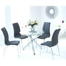 miami black glass dining table and 2 chairs breakfast se round