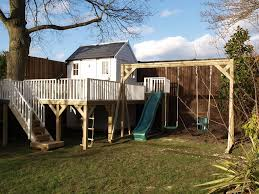 kids tree houses. Tree House With Platform, Swing Gantry, Slide, Stairs And Rope Ladder Access Kids Houses