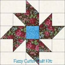 Easy Fussy cut quilt blocks | Quilt Blocks | Quilts & Quilting ... & Scrappy Fabric Pinwheel Flowers Floral Easy Pre-Cut Quilt Blocks Top Kit On  the lookout for block pattern only! Adamdwight.com