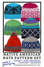 Native American Design Hats Native American Hats Pattern Set Review Oombawka Design