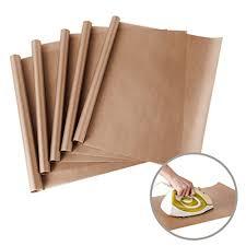 teflon sheet 5 pack ptfe teflon sheet for heat press transfer sheet non stick 15