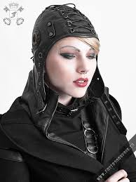 s 163 bunker er cap aviator hat by punk rave fantasmagoria retail whole gothic clothes and accessories