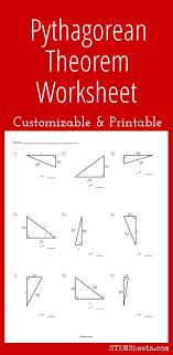 Pythagorean Theorem Practice Worksheet Pythagorean Theorem Worksheet ...