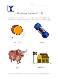© contributed by leanne guenther. Beginning Consonants Letter Y Worksheet All Kids Network