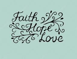 Lettrage De Main Avec Le Verset De La Bible Foi Espérance Et D