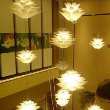 lighting diy puzzle flower chandelier pendant light lamp shade hanging amazing clear ball lampshade flowerpot