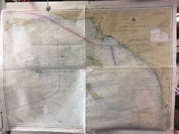 Vintage Noaa Bellingham To Everett Charter Map Nautical