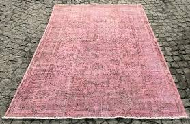 pink turkish rug pink over dyed rug handmade vintage carpet hot pink turkish rug light pink pink turkish rug