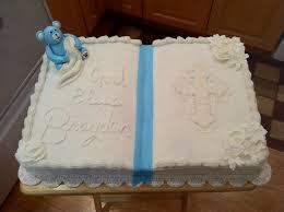 White Christening Cake