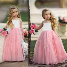 <b>New Summer</b> Kid Baby Girl Princess Dress Birthday Party Wedding ...