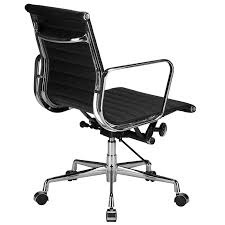 mid aluminum office chair white italian. Lanna Furniture Estey Mid Back Office Chair With Italian Leather , Chairs - Aluminum White
