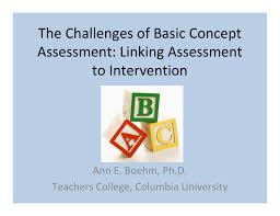 Basic Concep The Challenges Of Basic Concept Assessment Linking