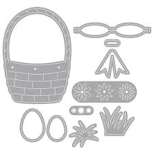 <b>YaMinSanNiO</b> Easter Bunny Basket Flower Metal Cutting <b>Dies</b> New ...