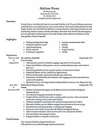 Objective For A Nanny Resume Amazing Nanny Resume Photos Entry Level Templates For 63
