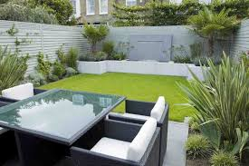 Small Picture Modern Minimalist Garden Design With Rattan Furniture And White