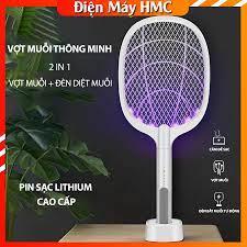 Vợt Muỗi Kiêm Đèn Bắt Muỗi NATIKA ⚡ [ 2 TRONG 1 ] ⚡ - Pin sạc cao cấp 1200  mah bảo hành 6 tháng - Dụng cụ diệt chuột, côn trùng