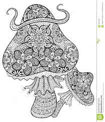 Hand Drawn Magic Mushrooms For Adult