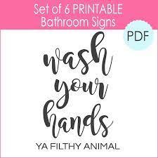 6 Printable Bathroom Signs Pdf The Girl Creative