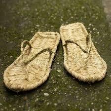 Men Summer Hand Made Straw Shoes Retro Natural Tengcao ...