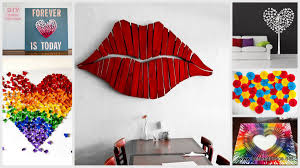 diy ombre cork heart wall art project pink heart on grey canvas colorful heart white heart on wall art red lips with wall art top 10 images wall art projects diy outdoor wall art easy