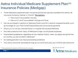 page 3 three care supplement plan insurance policies are typically available from aetna life insurance