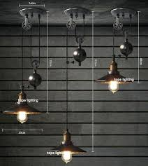 pulley lighting. Pulley Lights Contemporary Pendant Lamps Rise Fall Kitchen Retro Style Lighting