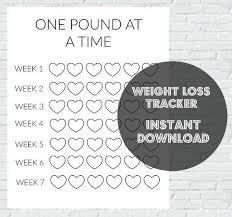 Weight Loss Tracker Printable Prnt