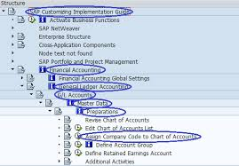 Chart Of Accounts Code Structure Menu Path Assign Company Code To Chart Of Accounts Sap