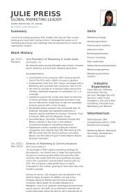 Vice President Of Marketing Resume Samples Visualcv Resume Samples