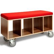 kids modern furniture. bench box storage and seating walnut from moki modern kids furniture